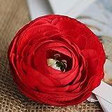 Yuhualiyi123 5 Teile/los Pfingstrose Kopf Seide Künstliche Blumen Hause Hochzeitsdekor DIY Kranz Boutonniere Handgelenk Blume (Color : Red L)