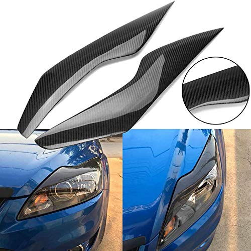 JXSMQC Koolstofvezel koplamp wenkbrauwkap.Voor Ford Focus 2009-2011