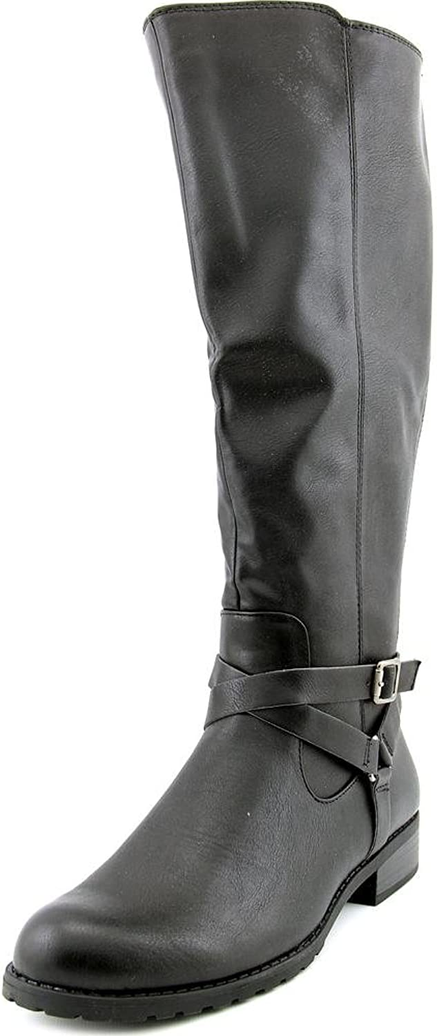 Style & Co. Womens BRIGYTE Almond Toe Knee High Riding Boots, Black WC, Size 9.0