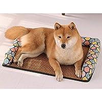 ペットベッド ペットソファー 犬 S 猫 マット スクエア型 ペットクッション 洗える フランネル 通気性よい ふわふわ 耐噛み ペット 模様 通気性いいぐっすり眠れる 小型犬 休憩所 柔らか ふんわり 滑り止め 犬用ベッド