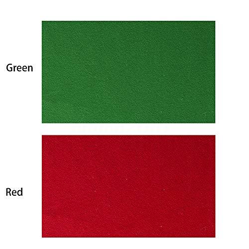 Billardtuch Billardtisch Filz - 2,8 m - Grün/Rot