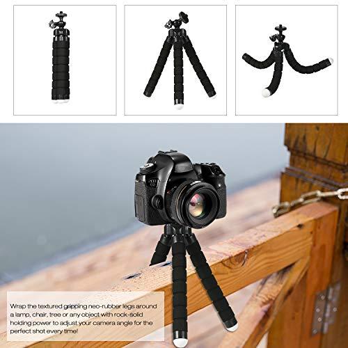 Godyluck- Telefon Stativständer Tragbare Handy-Kamera Stativ Kompatibel mit iPhone und Android-Handy Ideal für Selfies Vlogging Fotografie Aufnahme