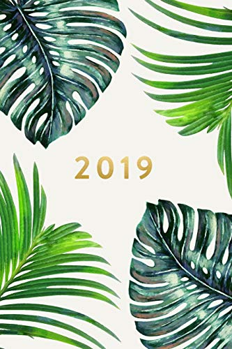 2019 | Weekly & Monthly Planner: Palm Leaves, January 2019 - December 2019, 6