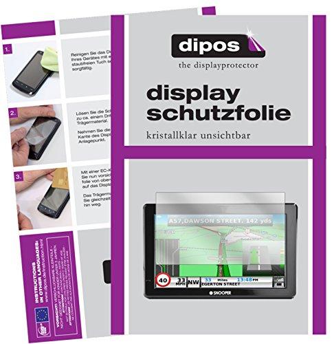 dipos I 3X Schutzfolie klar kompatibel mit Snooper Truckmate S8000 Folie Displayschutzfolie