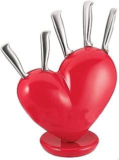 1 Set Kitchen Heart Knife Set Broken Heart Knife Block Set Red Heart Knife Holder.