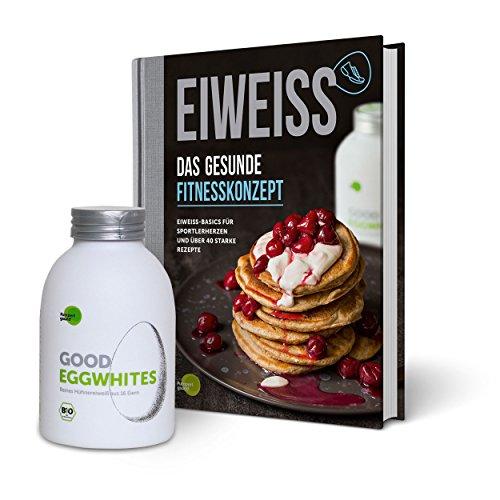 Eiweiß-Paket Gesunde Fitness: 1 Flasche Good Eggwhites (Bio-Eiklar) & das Fitness-Buch v. Pumperlgsund
