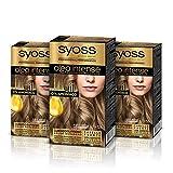 Syoss Oleo Intense - Tinte 7-58 Rubio Arena – Coloración permanente Sin Amoníaco – Cobertura profesional de canas – Resultados de peluquería (Pack De 3)
