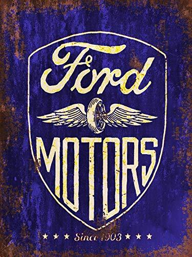 HALEY GAINES Ford Motors Métal Mur Affiche Vintage Étain Mural Signe Décorative Métallique Panneau Rétro Plaque pour Bar Cafés Cuisines Maison Garages 20×30cm