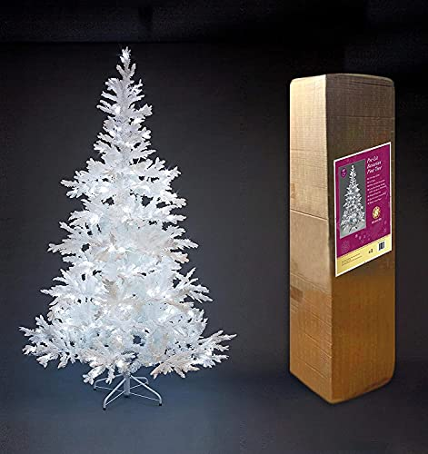 WEIGE Árbol de Navidad Artificial con Flocado de Nieve preiluminado PE PVC...