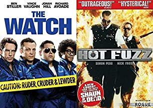 Police Officers? Ehhh, Sort Of! Hot Fuzz & The Watch 2 Pack DVD Laugh Movie Comedy Night