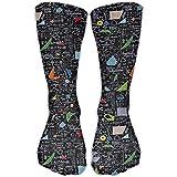 quanzhouxuhuixiefu Women Men Classics Socks Math Equations Numbers Theory Trigonometry Athletic Stockings 65CM Long Sock One Size 50CM