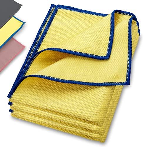 ELEXACLEAN Fenstertuch streifenfrei, Premium Mikrofaser Scheibentuch (3 Stück, 60x40 cm), Glas Putztücher Autotuch für Innen & Außen