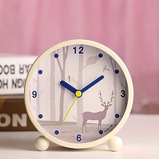 非カチカチ音をたてるベッドサイド目覚まし時計、ツインベル目覚まし時計、電池式3インチラウドツインベル目覚まし時計アナログ