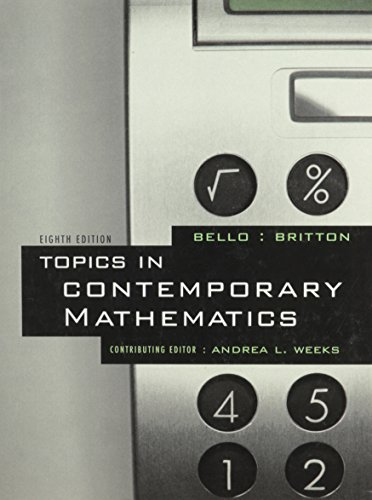 Topics in Contemporary Math, Custom Publication