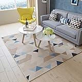 alfombra Ali Nórdico salón sofá Mesa de café Simple casa Moderna Dormitorio Cama Llena Rectangular (Color : #1, Tamaño : 0.8 * 1.2m)