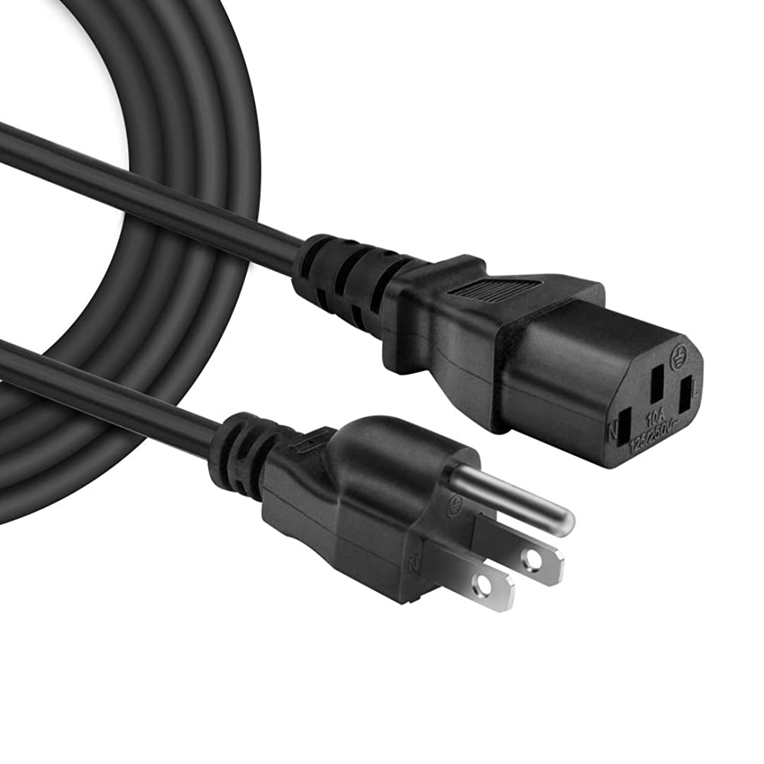 IBERLS [UL Listed] Universal Power Cord AC Cable 3 Prong Plug 18 AWG for Computer/Monitor / Printer/Scanner / LCD Tv Plasma DLP / Ps3 / Xbox 360 etc (NEMA 5-15P to IEC320C13)