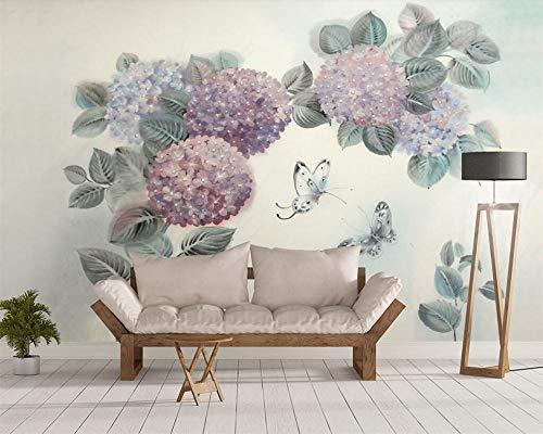 flores y pájaros mariposa papel pintado TV fondo paredes papel pintado 3d 250×175cm