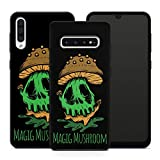 Handyhülle Goa Om für Samsung Silikon MMM Berlin Hülle Cannabis Magic Mushroom Kiffen Bong Gras PSY, Hüllendesign:Design 6 | Silikon Schwarz, Kompatibel mit Handy:Samsung Galaxy S9