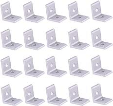 Cyful 2 Hole Inside Corner Bracket for 2020 Aluminum Extrusion Profile 25x25mm Silver - (20 Pcs)