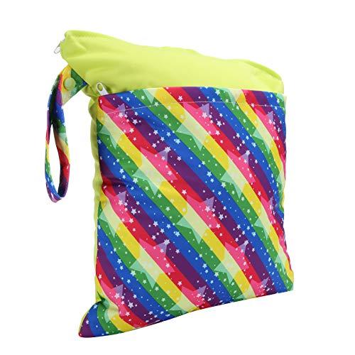 Bolsa de pañales de tela, mochila para bebés, bolsa de pañales, para niños y bebés para sacar a su bebé, viajar, hacer yoga, jugar en la playa y nadar(Colorful)