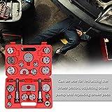 PR 22pcs automática de disco universal Pinza de freno del coche del viento Volver Pad compresor de pistón de Automóviles Garaje de reparación Kit de herramientas con estuche (Color : Red)