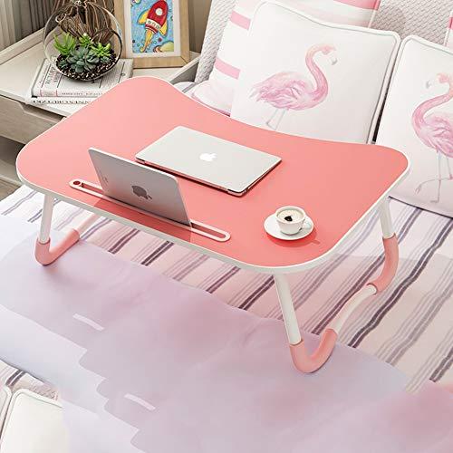QYN Faltbar Tragbar Klein Schreibtisch,nachhaltige Multi-Funktion Laptop-Tisch Einfacher Raum-sparen Schreibtisch Büromöbel Auf Dem Bedside Sofa-rosa C 60x40x28cm(24x16x11inch)