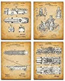 Original Fire Fighter Patent Art Prints - Set...