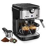 Sboly Espressomaschine, 2-in-1-Kaffeemaschine für Nespresso-kompatible Kapseln und gemahlenen...