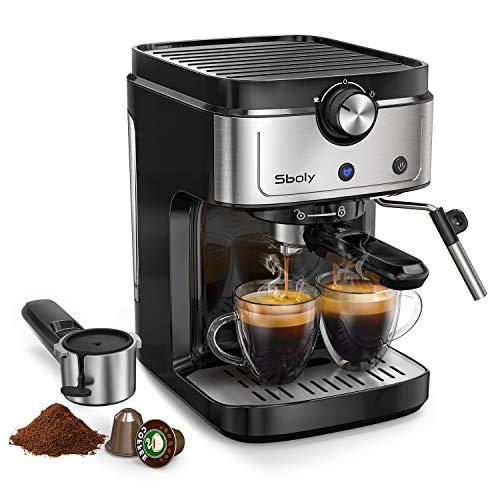 Cafetera Espresso Sboly, Cafetera 2 en 1...