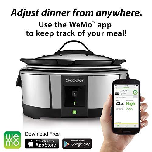 Product Image 8: Crock-Pot 6-Quart WeMo-Enabled Smart Slow Cooker, Stainless Steel