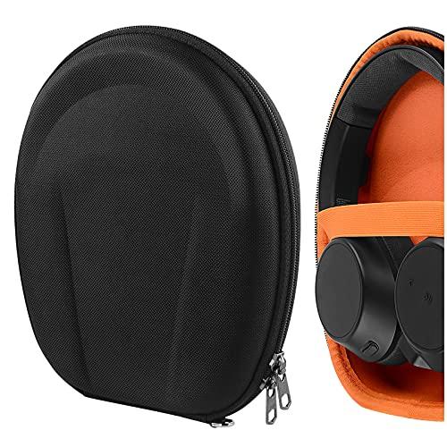 Geekria UltraShell Schutzhülle für Plantronic BACKBEAT PRO 2, BACKBEAT GO 810, BLACKWIRE 3300 Kopfhörer, Ersatz Hartschalen-Reisetasche mit Zubehör Aufbewahrung (schwarz)
