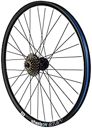 27.5 inch Rear wheel + 7 Speed Shimano Freewheel Disc brake Quick Release Disc Brake(not included) Shimano Freewheel 7 speed fitted 14-28T 32 H Black Strong double wall wheel