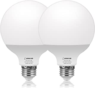 LOHAS G30 Replacement Bulbs, 100W Equivalent Globe Light Bulb Daylight White 5000K, 14Watt Round Light with E26 Base, 1250 Lumen for Garage, Kitchen,Warehouse Bathroom Light, Not-Dimmable, 2Pack