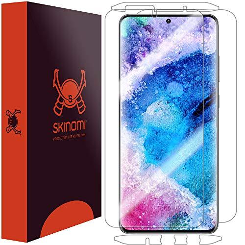 Skinomi TechSkin Schutzfolie für Samsung Galaxy S20 (6,2 Zoll) (15,7 cm) (Displayschutzfolie + Rückseite) Full Coverage Clear HD Film