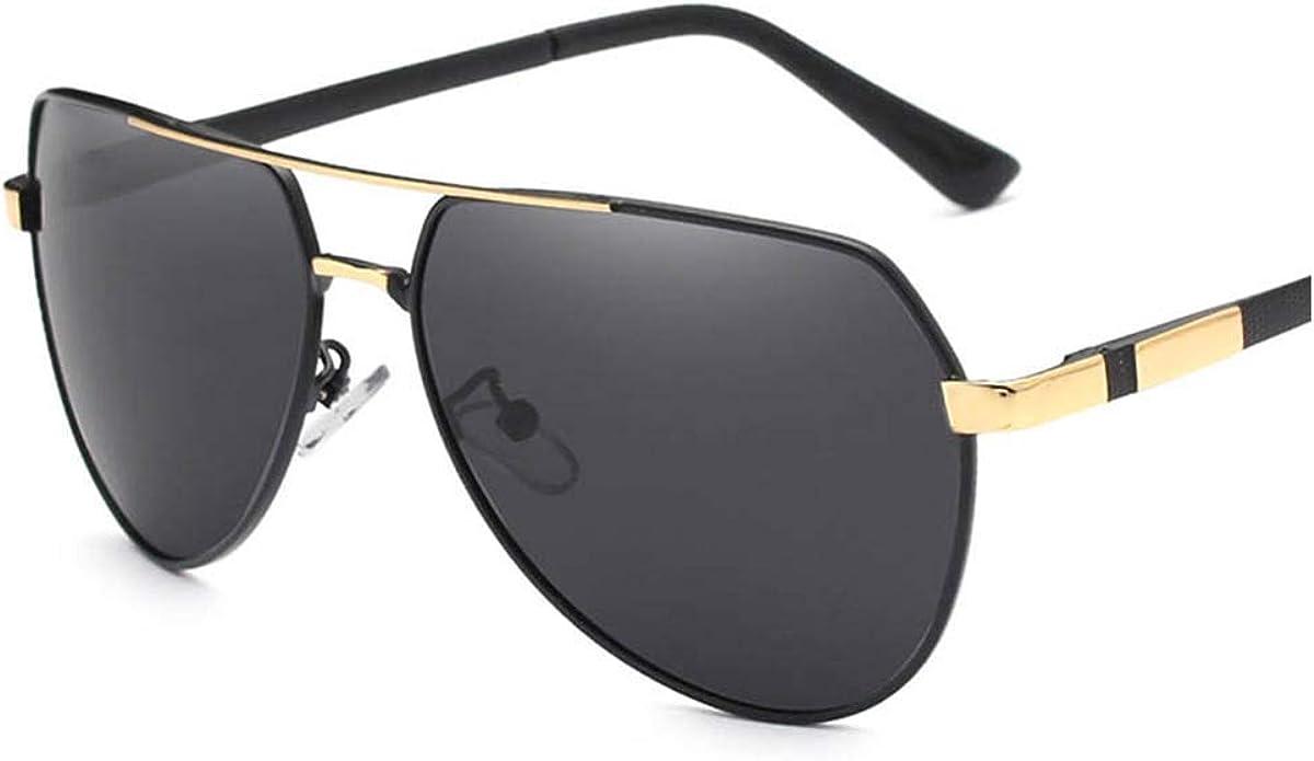 RTGreat Fashion Design Sunglasses Des lunettes de soleil Men Polarized UV400 Eyes Protect Sports Sunglasses Des lunettes de soleil C01 Gold Gray