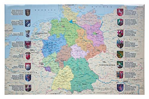 Idena 1401 - bureau-onderlegger van kunststof met twee insteekzakken kaart van Duitsland multicolor