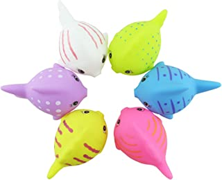 NUOLUX 6 Pcs Cute Fun Animals Floating Toy Vinyl Water Fish Bath Toys for Baby Infant Bath Time
