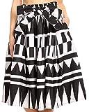 Sakkas 19421 - Jupe mi-Longue à Poches africaines avec Cercle Vintage et Femmes AMA pour Femmes - 113-blackwhite - OS