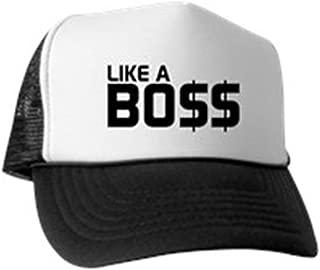CafePress Like A Boss Trucker Hat Baseball Cap