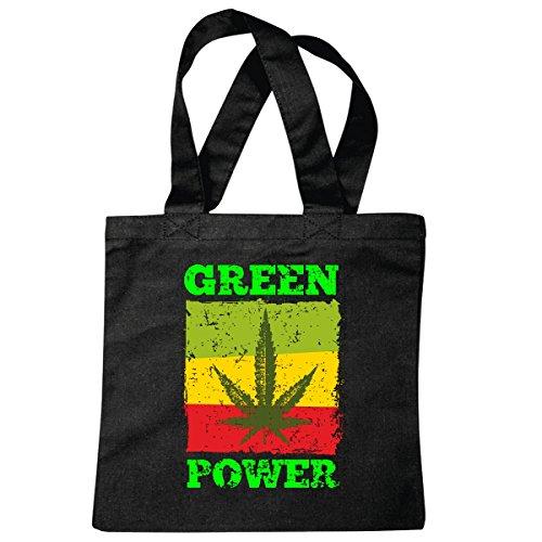 Tas schoudertas Haschisch - hennep - kiffen - Marihuana - gras - legaliseren - jaren 70 hippie boodschappentas schooltas gymtas in zwart