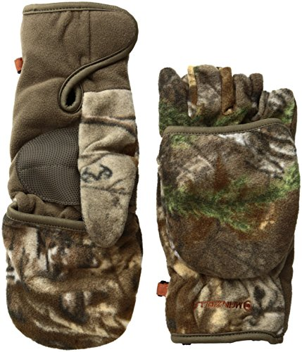 Manzella Productions Bow Hunter Convertible Glove/Mitten, Thinsulate APX, Large