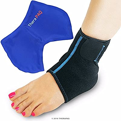 Foot & Ankle Ice Wrap with Hot & Cold Gel Pack | Adjustable, Multi-Purpose, Microwaveable, Freezable and Reusable