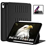 TSOMEI iPad Air 4 Case 10.9 inch 2020, with Pencil Holder, Multiple Angle Magnetic Stand, Shockproof Drop Protection, Auto Wake/Sleep Cover for New 2020 iPad 10.9 inch Tablet, Black