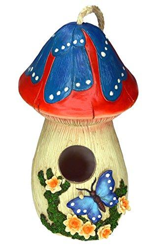 Hand-Painted Mushroom Birdhouse