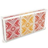 3-Deck Playing Card Display Case - Clear Acrylic Playing Card Display Case - Collectible Playing Card Strong Acrylic Display Case for Collectible Cards, Playing Cards, and Game Cards