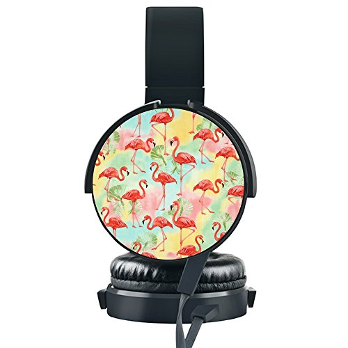 Why Should You Buy Tropical Flamingos Wired Headset,INmark Fordable Headset [Noise Canceling] [Hands-Free Phone Calls] for iPhone/Samsung/LG/HTC/BlackBerry/Huawei/ZTE/PC/iPad/Laptop and More.