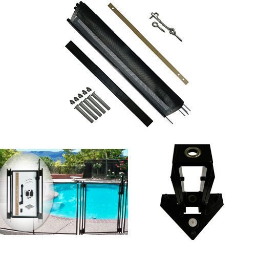 Life Saver Mesh Pool Fence Kit – 48 ft. – Self-Closing Gate – Drill Guide