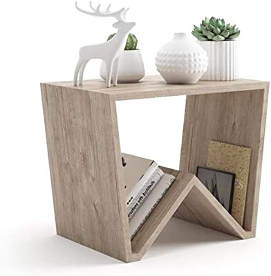 Mobili Fiver, Table Basse Emma, Chêne, 50 x 33 x 40 cm, Mélaminé, Made in Italy