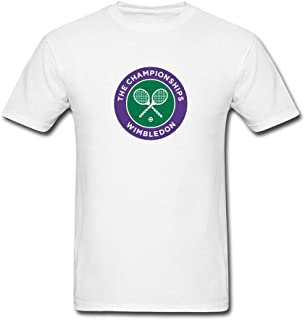 JXK Men's 2016 Wimbledon Championships Four Grand Slam Tennis Tournament Logo T-Shirt S ColorName Short Sleeve