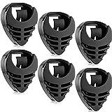 6 Pezzi Porta Plettro Supporto per Plettro Chitarra Nero Plastico Facile da Incollare a Chitarra con Retro Adesivo e Accessori per Chitarre a Molla Conveniente Plettro Posizionamento per Basso Ukulele